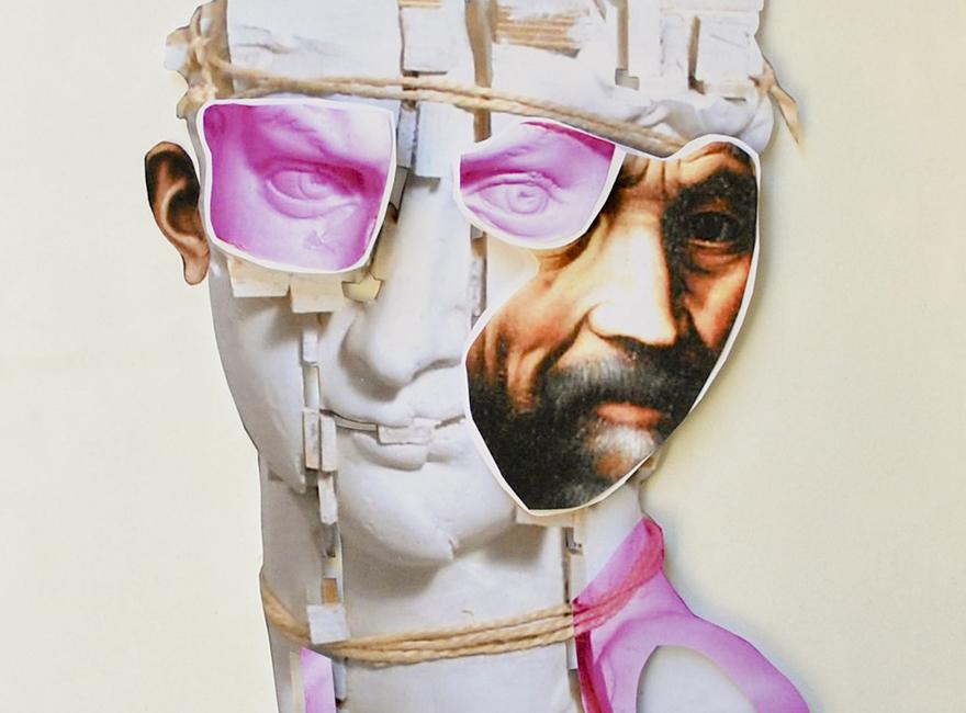 Michelangelo Buonarroti - collage by Koko