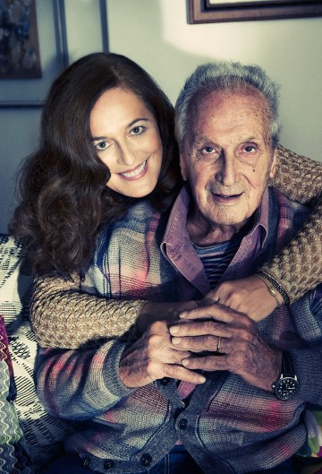 Angela Missoni with her father Ottavio Missoni - photography by Benjamin Kanarek