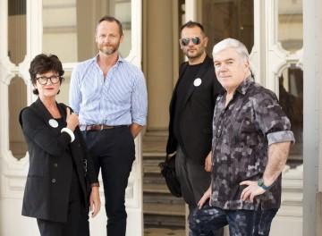 Tim Blanks at Polimoda with Linda Loppa, Danilo Venturi and Patrick de Muynck